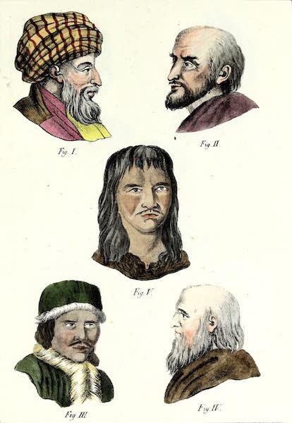 Porte-Feuille Geographique et Ethnographique [Atlas] - [Assorted Facial Profiles - III] (1820)