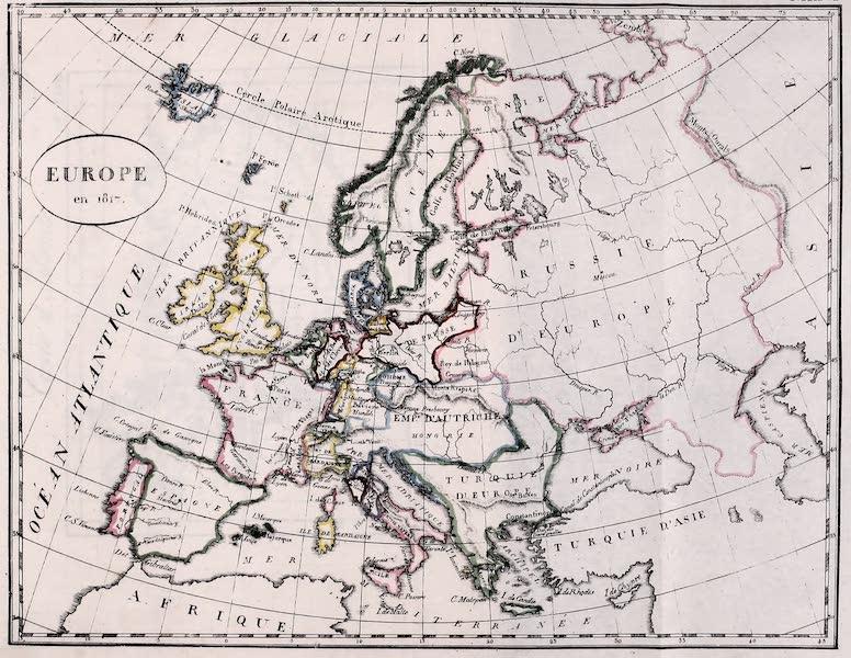 Porte-Feuille Geographique et Ethnographique [Atlas] - Europe en 1817 (1820)