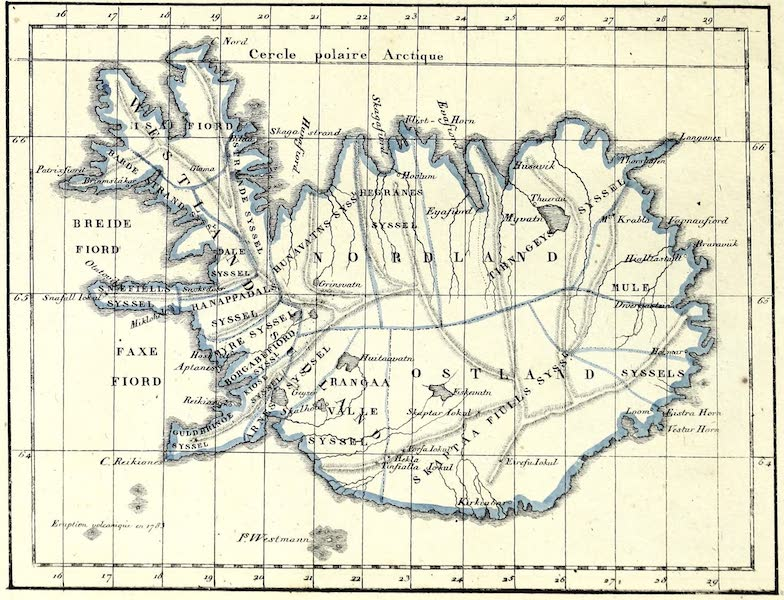 Porte-Feuille Geographique et Ethnographique [Atlas] - Carte d'Islande (1820)