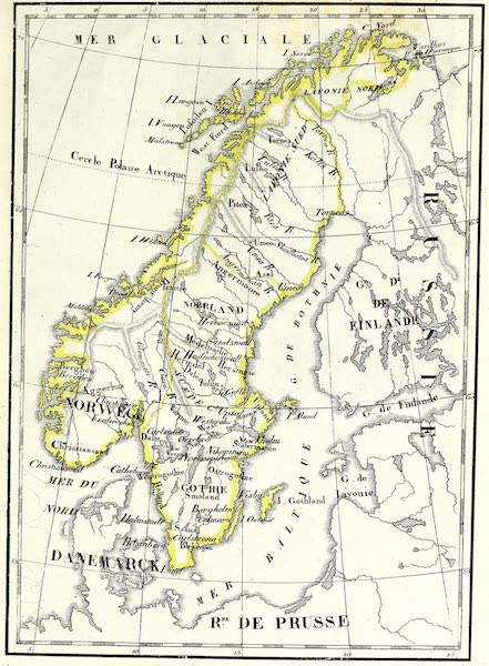 Porte-Feuille Geographique et Ethnographique [Atlas] - Carte de la Suede de la Norwege (1820)