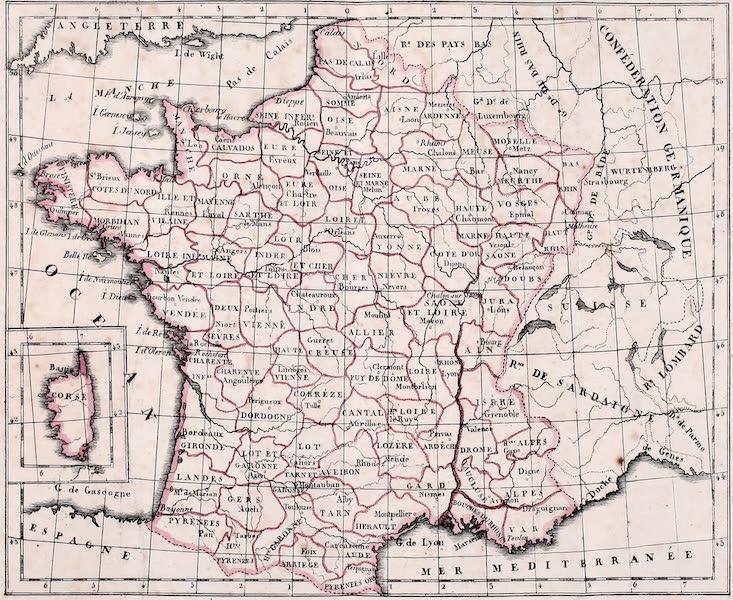 Porte-Feuille Geographique et Ethnographique [Atlas] - Carte Politique de la France (1820)