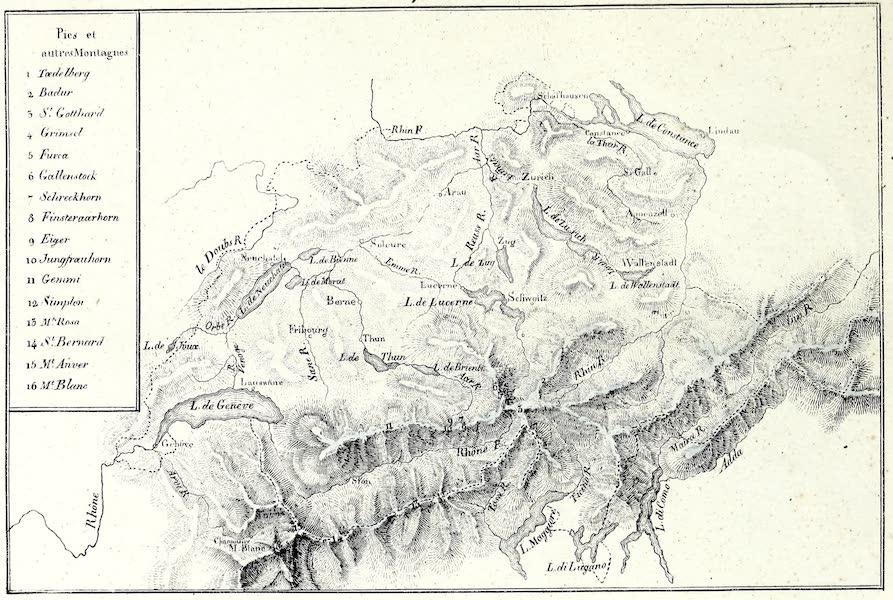 Porte-Feuille Geographique et Ethnographique [Atlas] - Carte Phisique de la Suisse (1820)