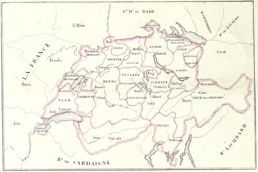 Porte-Feuille Geographique et Ethnographique [Atlas] - Carte Politique de la Suisse (1820)