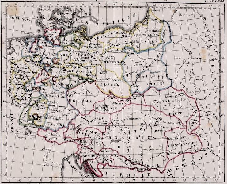 Porte-Feuille Geographique et Ethnographique [Atlas] - Carte Politique de l'Allemagne (1820)