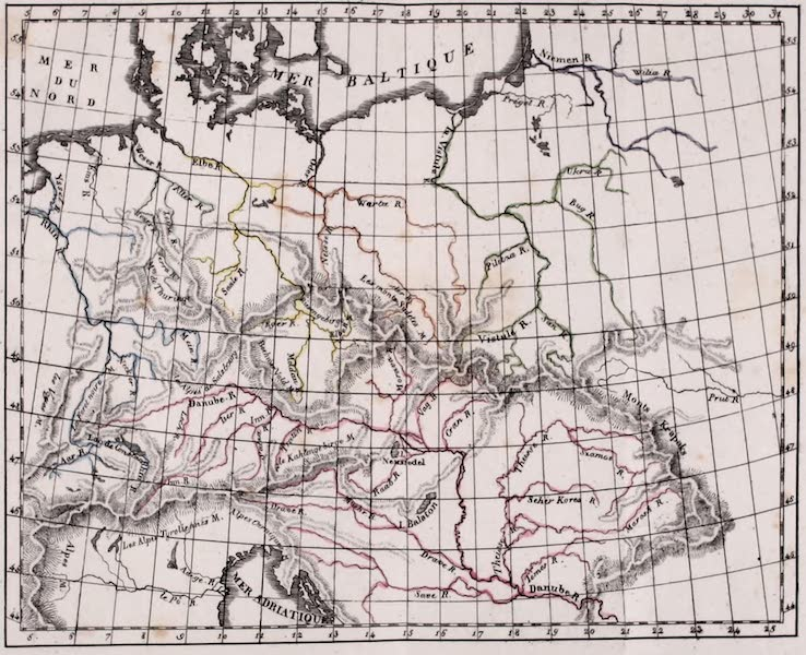 Porte-Feuille Geographique et Ethnographique [Atlas] - Carte Physique de l'Allemagne (1820)