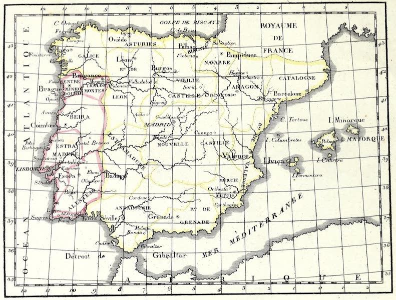 Porte-Feuille Geographique et Ethnographique [Atlas] - Carte politique de l'Espagne (1820)