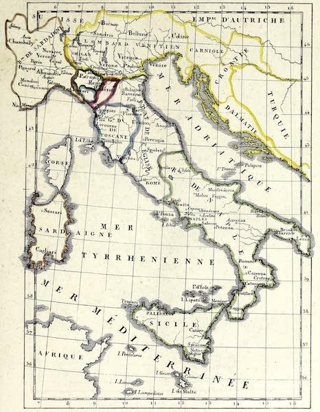 Porte-Feuille Geographique et Ethnographique [Atlas] - Carte politique de l'Italie (1820)
