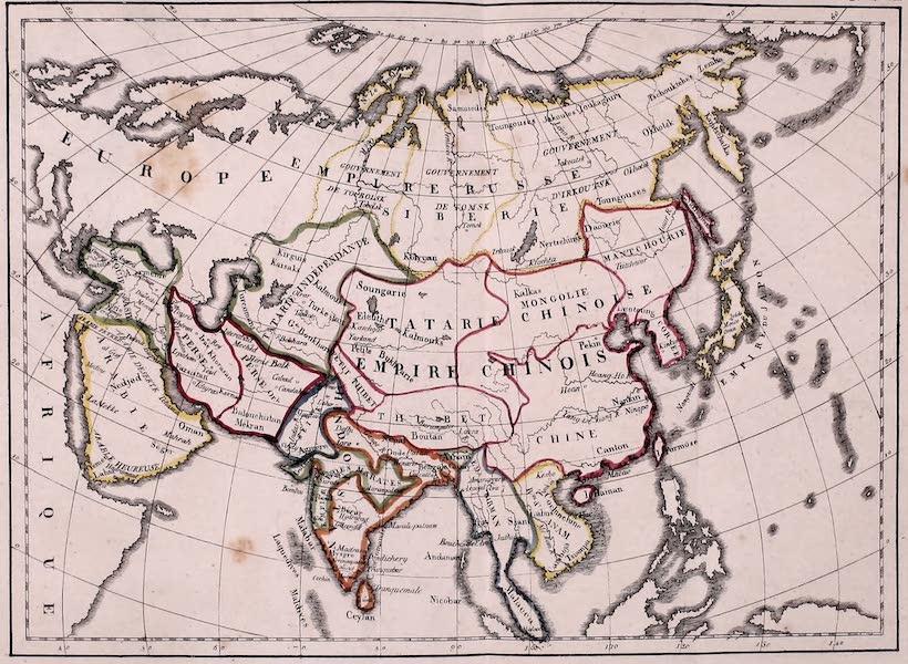 Porte-Feuille Geographique et Ethnographique [Atlas] - Carte politique de l'Asie (1820)