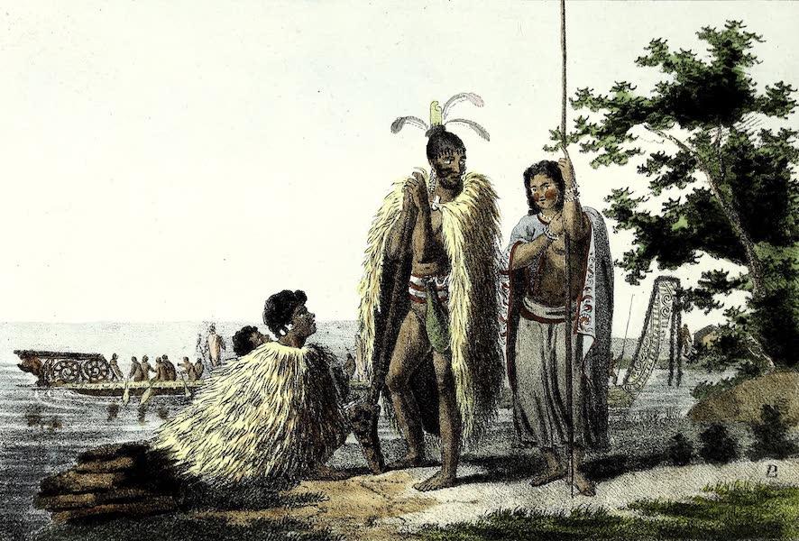 Porte-Feuille Geographique et Ethnographique [Atlas] - Habitans de la nouvelle Zeelande (1820)