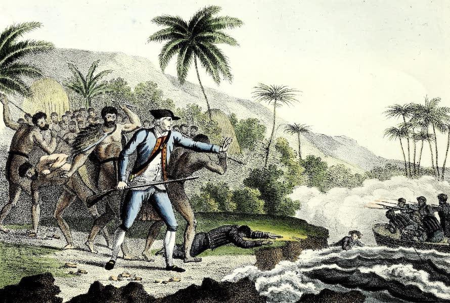 Porte-Feuille Geographique et Ethnographique [Atlas] - Isles Sandwich. Mort du Capt. Cook (1820)