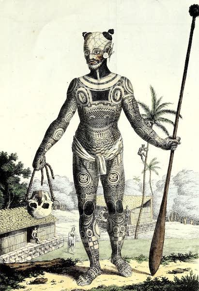 Porte-Feuille Geographique et Ethnographique [Atlas] - Habitans de Nukahiwa l'une des Marquises (1820)