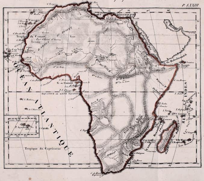 Porte-Feuille Geographique et Ethnographique [Atlas] - Carte Physique de l'Afrique (1820)