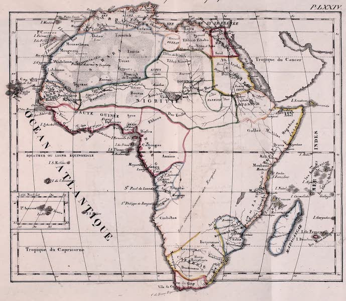 Porte-Feuille Geographique et Ethnographique [Atlas] - Carte Politique de l'Afrique (1820)