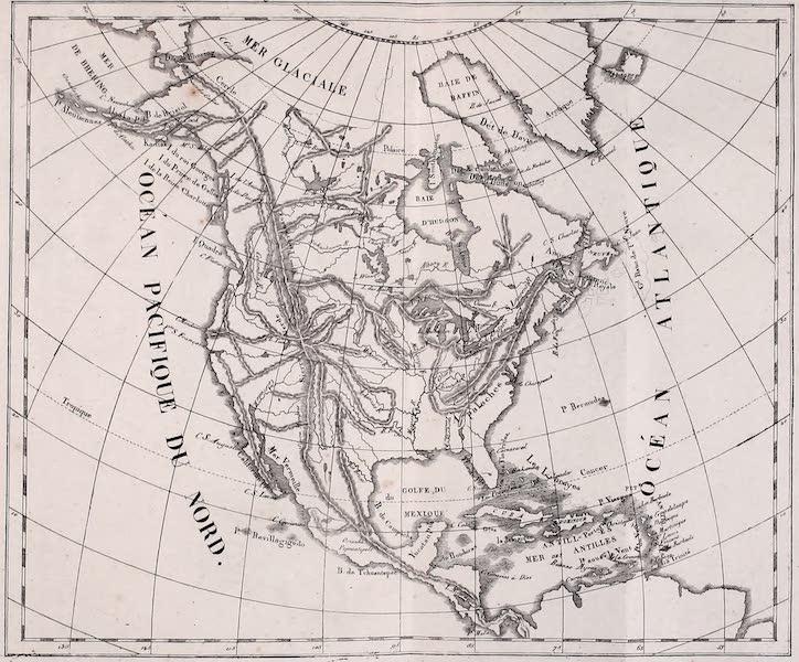 Porte-Feuille Geographique et Ethnographique [Atlas] - Carte Physique de l'Amerique Septentrionale (1820)