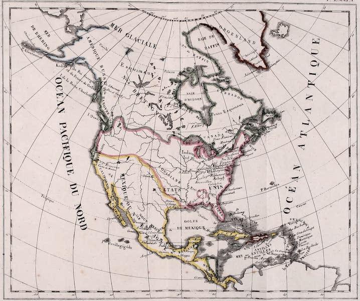 Porte-Feuille Geographique et Ethnographique [Atlas] - Carte Politique de l'Amerique Septentrionale (1820)
