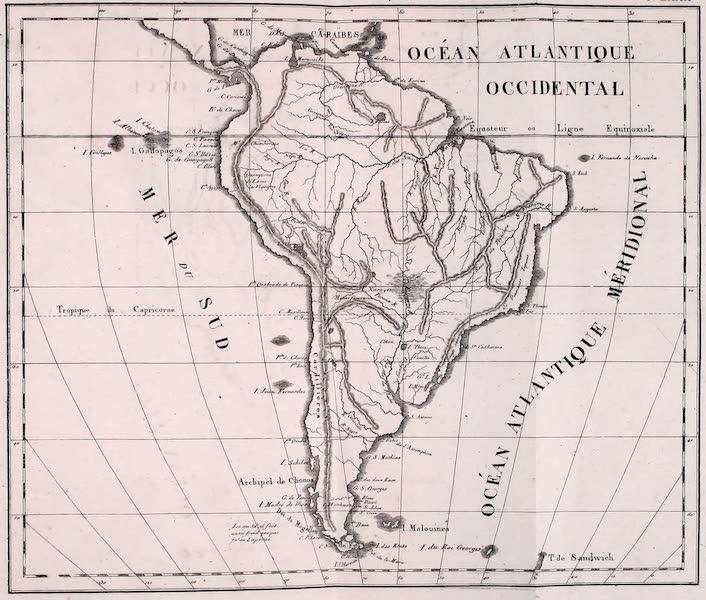 Porte-Feuille Geographique et Ethnographique [Atlas] - Carte Physique de l'Amerique Meridionale  (1820)