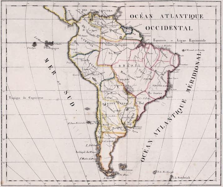 Porte-Feuille Geographique et Ethnographique [Atlas] - Carte Politique de l'Amerique Meridionale  (1820)