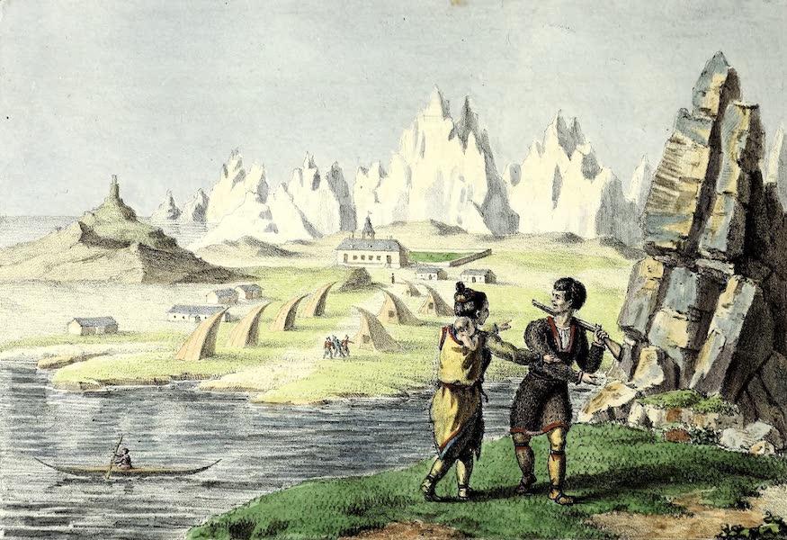 Porte-Feuille Geographique et Ethnographique [Atlas] - La Ville de Lichtenfels en Groenlande (1820)