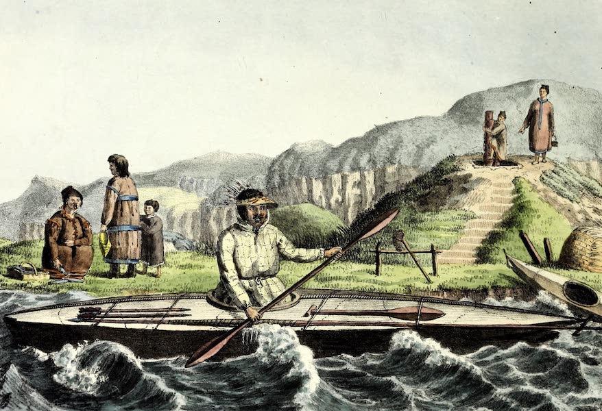 Porte-Feuille Geographique et Ethnographique [Atlas] - Habitans d'Oonalashka (1820)