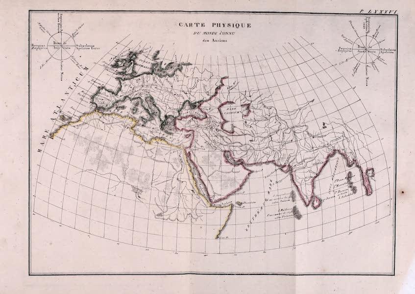 Porte-Feuille Geographique et Ethnographique [Atlas] - Carte Physique du Monde Connu des Anciens (1820)