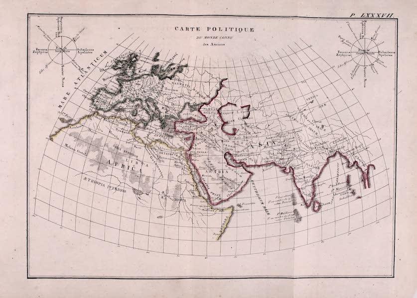 Porte-Feuille Geographique et Ethnographique [Atlas] - Carte Politique du Monde Connu des Anciens (1820)