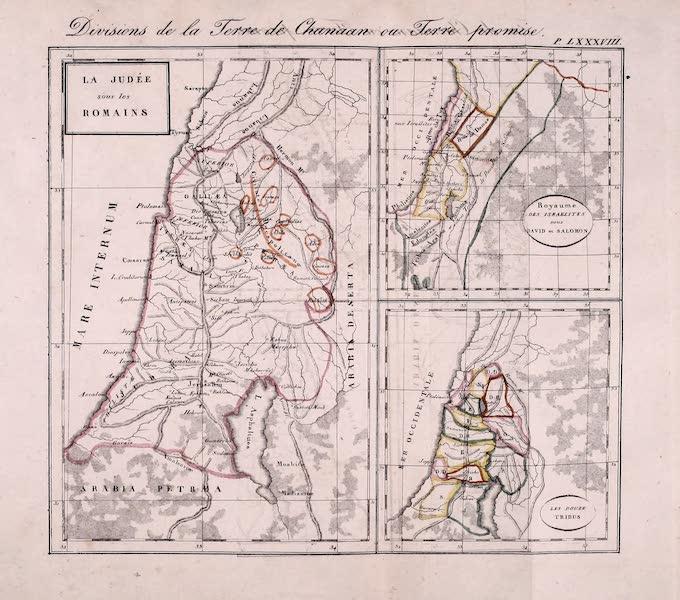 Porte-Feuille Geographique et Ethnographique [Atlas] - Divisions de la Terre de Chanaan ou Terre Promise (1820)