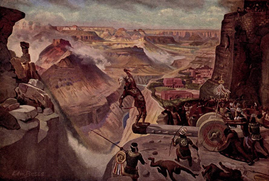 Prince Izon; a Romance of the Grand Canyon - The Battle at the Gate (1910)