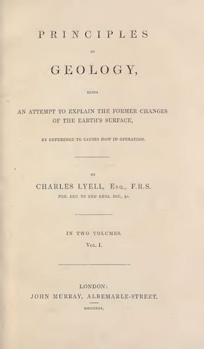 Principles of Geology Vol. 1