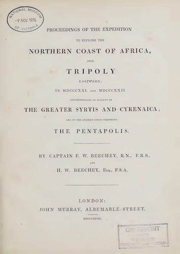 Proceedings of the Expedition to Explore the Northern Coast of Africa (1828)