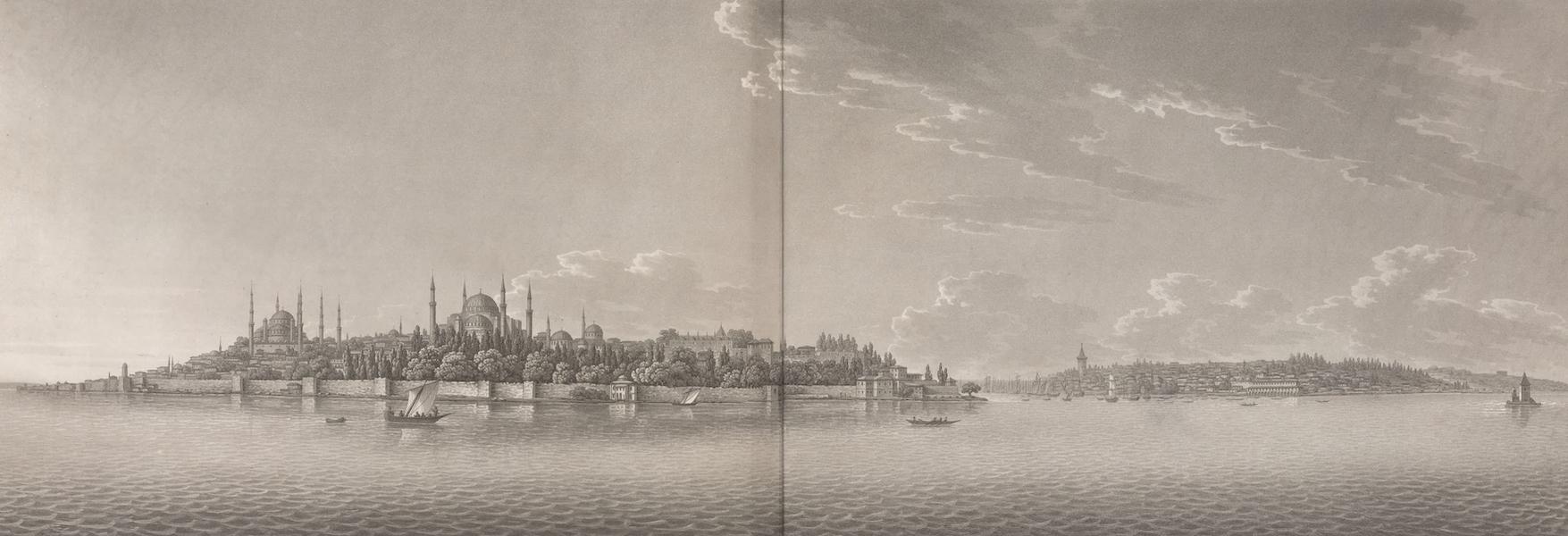 Promenades Pittoresques dans Constantinople Atlas - I. Vue de la partie méridionale de Constantinople (1817)