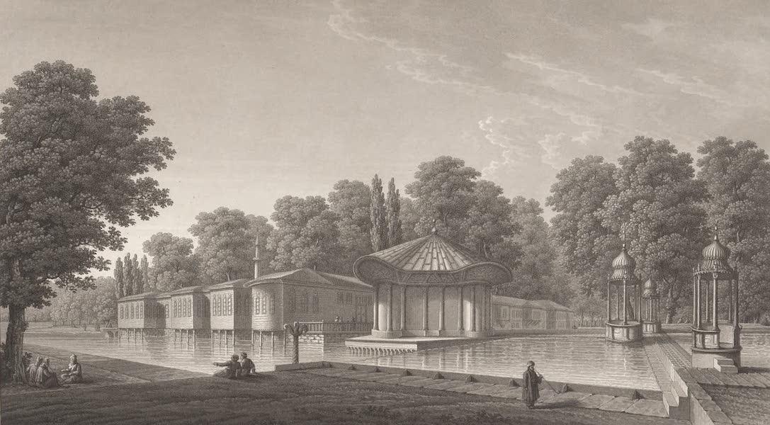 Promenades Pittoresques dans Constantinople Atlas - III. Vue de la Maison impériale des eaux douces d'Europe (1817)