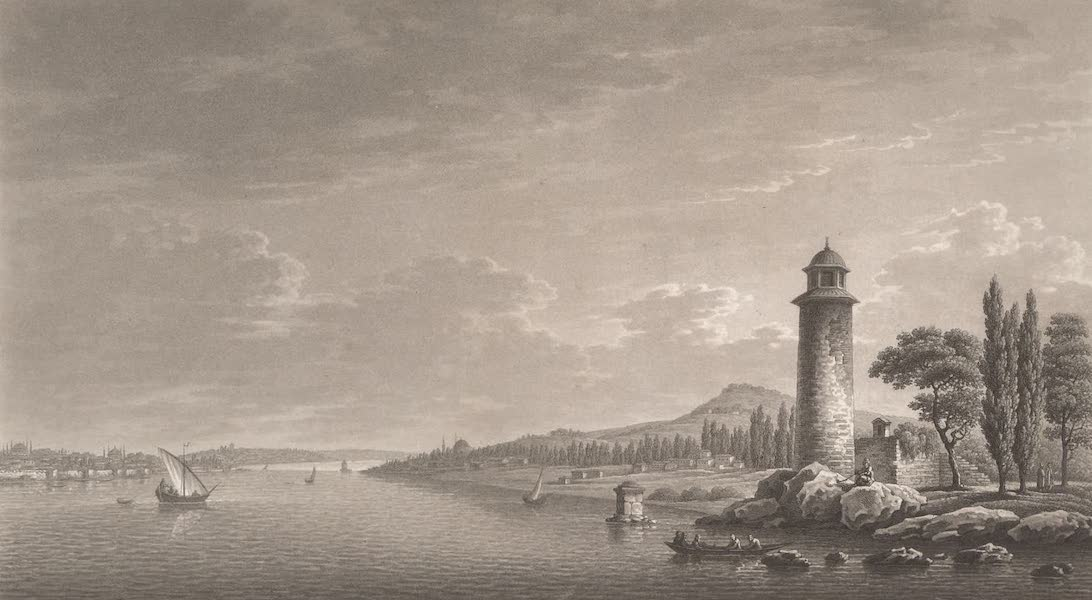 Promenades Pittoresques dans Constantinople Atlas - V. Vue de Fener-Bakcthé et de la campagne de Chalcédoin (1817)