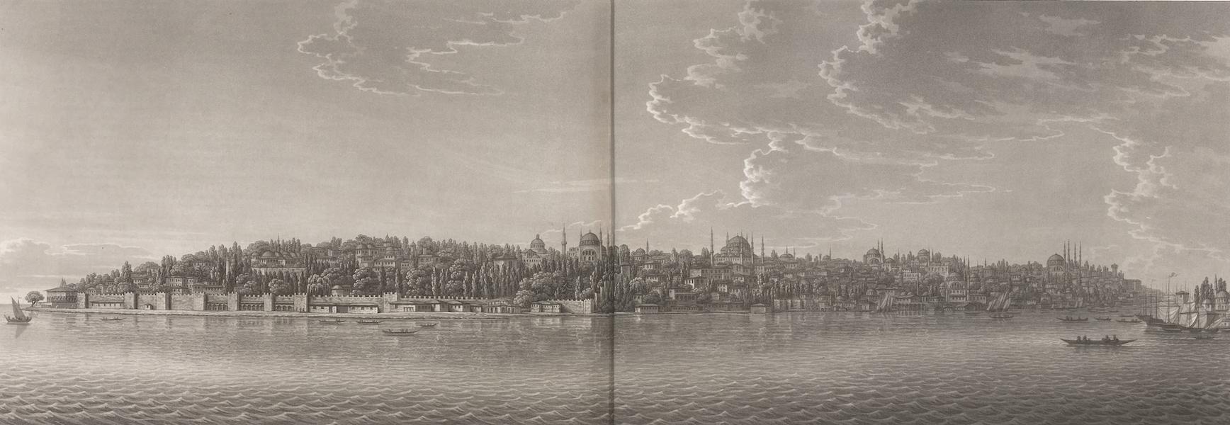 Promenades Pittoresques dans Constantinople Atlas - VI. Vue de Constantinople, depuis la pointe du sérail jusqu'à la tour du janissaire Aga (1817)