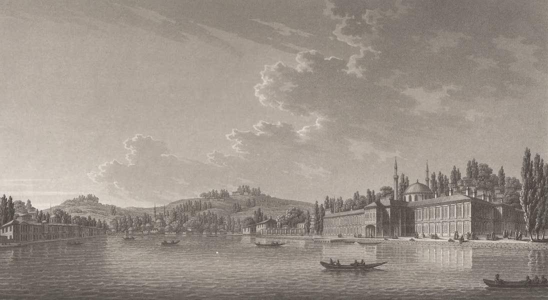Promenades Pittoresques dans Constantinople Atlas - VII. Vue du fond du port et du bourg d'Eyub (1817)