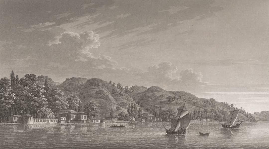 Promenades Pittoresques dans Constantinople Atlas - VIII. Vue du Kiosk des conférences et de Bebek (1817)