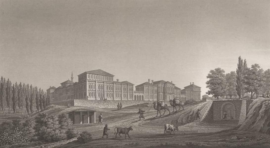 Promenades Pittoresques dans Constantinople Atlas - XII. Vue de la Caserne et du champ des Morts de Péra (1817)