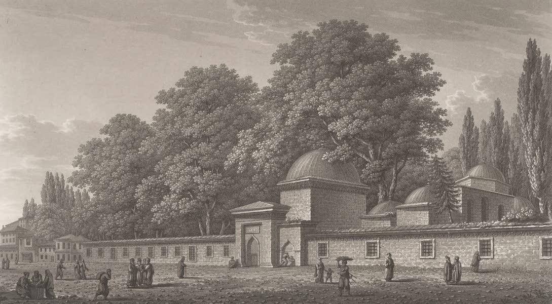 Promenades Pittoresques dans Constantinople Atlas - XIII. Vue de Tune des enceintes funéraires d'Eyub (1817)