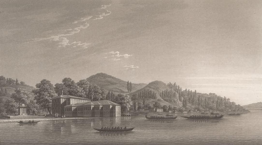 Promenades Pittoresques dans Constantinople Atlas - XV. Vue du Kiosk des eaux douces d'Asie, et du village de Kandeli (1817)