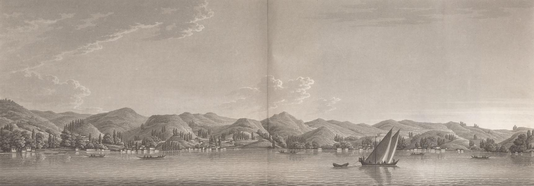 Promenades Pittoresques dans Constantinople Atlas - XVI. Vue de la côte d'Asie, depuis la montagne du Géant jusqu'au cap de Tchiboucli (1817)