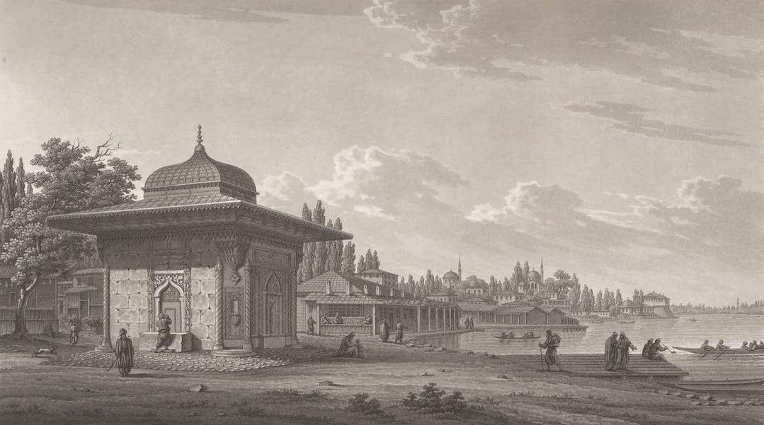 Promenades Pittoresques dans Constantinople Atlas - XVII. Vue de la fontaine de Scutari (1817)