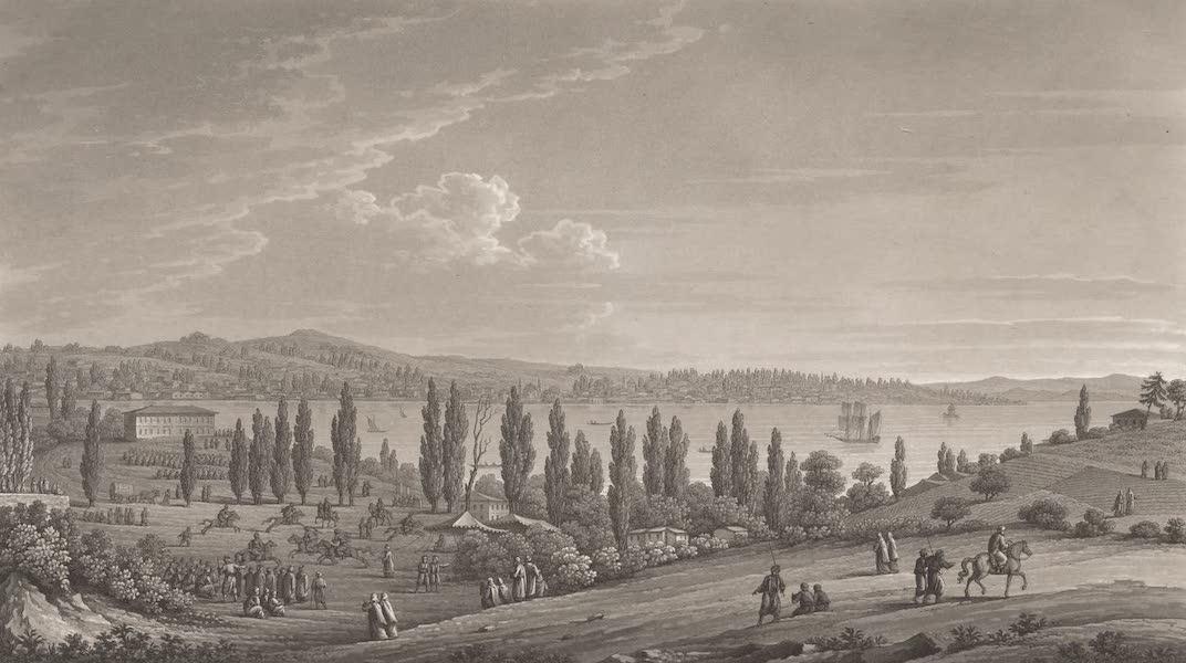 Promenades Pittoresques dans Constantinople Atlas - XVIII. Vue de la vallee de Dolma Baktche (1817)