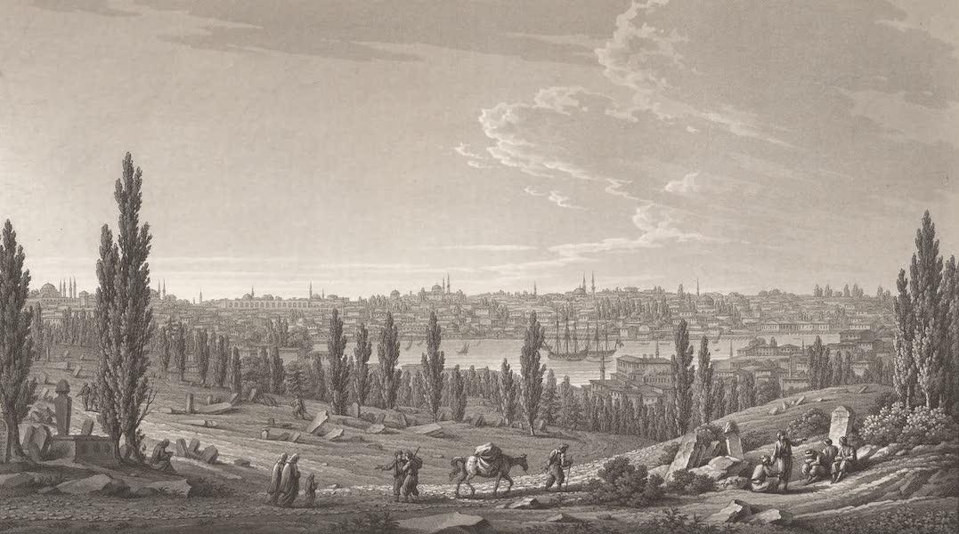 Promenades Pittoresques dans Constantinople Atlas - XX. Vue de la partie septentrionale de Constantinople, depuis la tour de l'Aga des Janissaires jusqu'au palais d'Hussein-Pacha (1817)