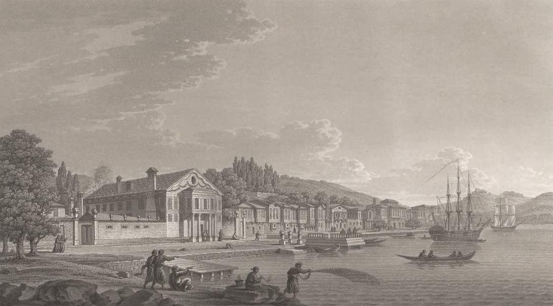 Promenades Pittoresques dans Constantinople Atlas - XXIV. Vue du village de Buyuck-Dere (1817)