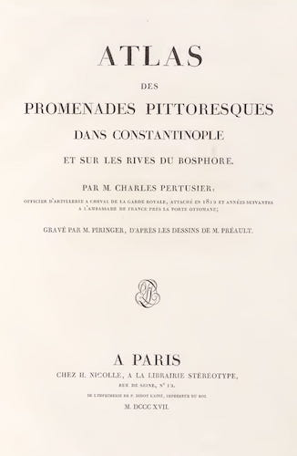 French - Promenades Pittoresques dans Constantinople Atlas