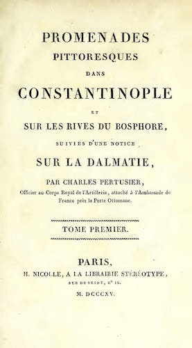 Promenades Pittoresques dans Constantinople Vol. 1 (1815)