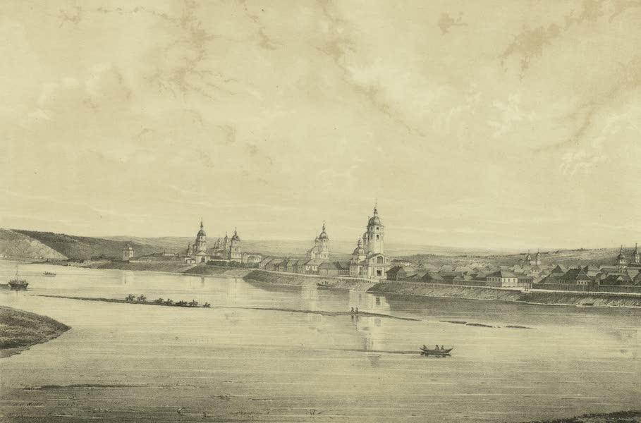 Puteshestvie po vostochnoi Sibiri - Vid goroda Irkutska (1856)