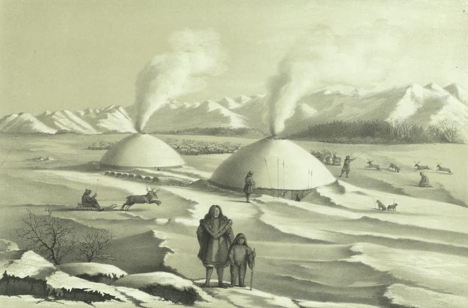 Puteshestvie po vostochnoi Sibiri - Stoibishche olennykh koriak (1856)