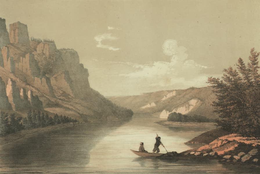 Puteshestvie po vostochnoi Sibiri - Vid na reke Lene bliz goroda Kirenska (1856)