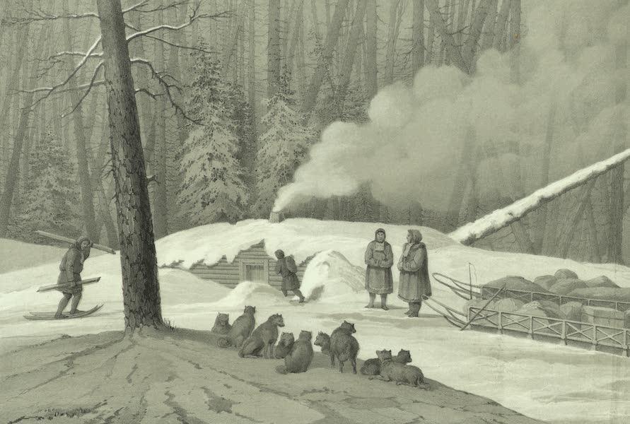 Puteshestvie po vostochnoi Sibiri - Nochleg v lesu (v severnykh lesakh) (1856)
