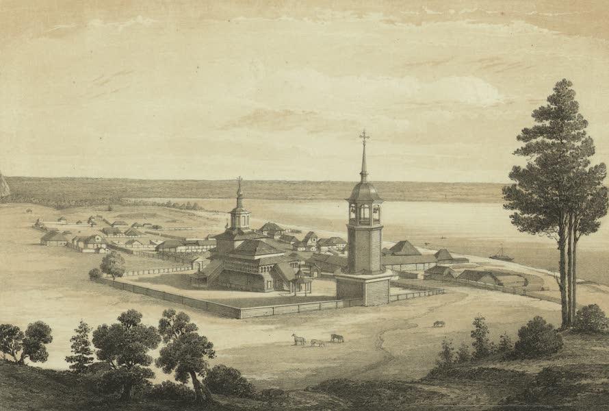 Puteshestvie po vostochnoi Sibiri - Gorod Olekminsk na reke Lene (1856)